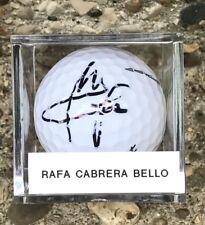 RAFA CABRERA BELLO SIGNED NEW TITLEIST VELOCITY GOLF BALL AUTO AUTOGRAPH + CUBE