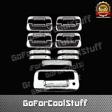 FOR FORD 2004 F-150 Chrome 4 Door Handle w/o PSKH,keypad+ Tailgate Cover w/kh