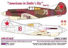AML Models Decals 1/48 AMERICANS IN STALIN'S SKY P-40 Warhawk Part 2