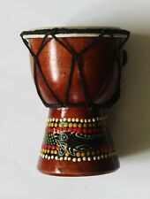 FAIRTRADE: Small Hand painted African Djembe Finger Drum. Ideal Gift.
