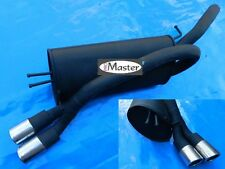 Exhaust Rear Silencer Muffler FIAT BRAVO II 1.4 Petrol 1.6 1.9 JTD  2x70mm Black