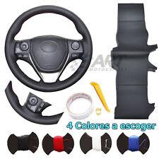 Funda de volante para Toyota Auris Corolla Rav4 Verso cuero liso + perforado
