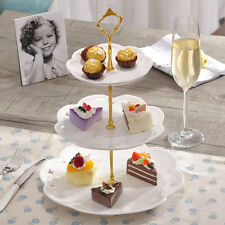 3 Tiers Cake Plate Stand Cupcake Fittings Silver/Golden Wedding Party Cocktail