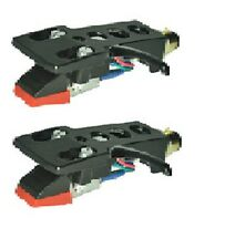 2 x STEREO MOVING MAGNETIC CARTRIDGEs + BLACK HEADSHELL +  STYLUS ASSEMBLY