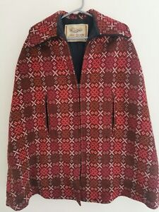 Vintage Welsh Tapestry Dillad Corwgl Coracle Clothes Wool Cape
