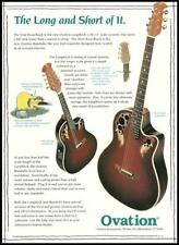 The Ovation Longneck series guitar & Mandolin advertisement 8 x 11 ad print