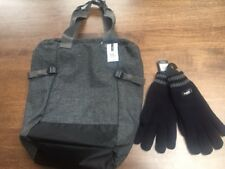 Topman Grey Holdall Backpack and M S Thinsulate Thermal Knitted Gloves. 7c9df035c226b