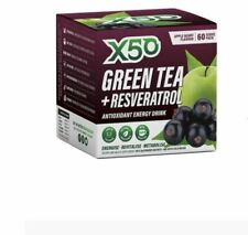 X50 Green Tea + Resveratrol Apple Berry 60 Sachets