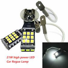2x 6000k White LED H3 21W High Power 2835-21smd Car Fog Light Bulb DRL 12V DC