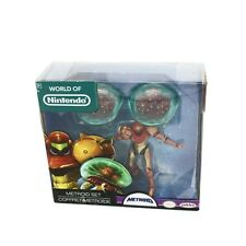 World of Nintendo Metroid Set Action Figures Sealed Jakks Pacific Samus Aran New