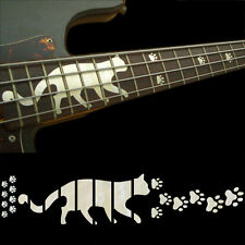 Fret Markers Inlay Sticker Decal For Bass - Cat Foot Print Paws - WP