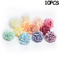 10pcs Artificial Hydrangea Silk Flower Heads Bouquet Home Wedding Garden Decor