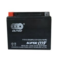 AGM YTX12-BS 12V 10Ah Battery For Honda Triumph Suzuki ATV Motorcycle Scooter