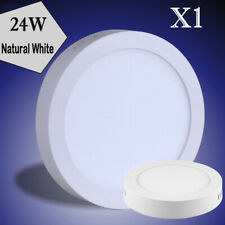 1X 24W Neutral White Round LED Panel Down Light  Indoor Ceiling Fixtures Lamp