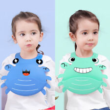HD_ FT- Cute Cartoon Crab Waterproof Baby Bib Washable Silicone Infants Toddlers