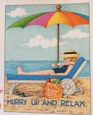 Mary Engelbreit Handmade Magnets-Hurry Up And Relax