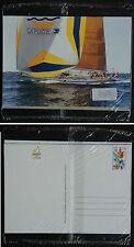 Course voile, 1992, 2 CPA entier postal prêt-à-poster, America 1493 C.Colomb