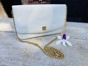 Authentic Givenchy Vintage Chain White Clutch/Shoulder Bag🌺