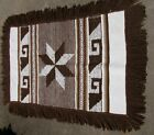 """Vintage Woven Mohair???  Wool Rug 52"""" Long x 34"""" Wide  with 5"""" Fringe"""