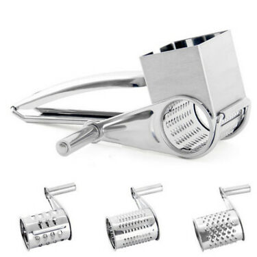 Home Cheese Grater Tools Gadget Accessory Kitchen Rotary Stainless Steel