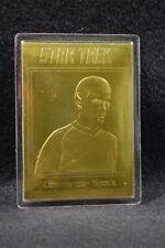 STAR TREK 22kt Gold Danbury Mint Card - COMMANDER SPOCK