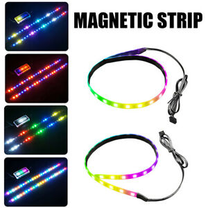 RGB LED Light Strip 40cm Magnetic Multicolor 5V 3PIN ARGB LED for PC Computer