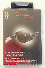 ROCKETFISH RETRACTABLE MICRO USB CHARGE/SYNC CABLE - RF-MCB3RTC-T