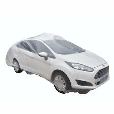 New Car Covers Clear Transparent Plastic Car Cover With Elastic Band WK ATAU