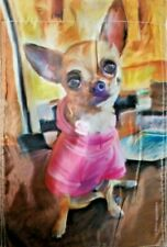 Chihuahua Dog Garden Flag Yard Outdoor Home Decorations Double Sided 12×18in