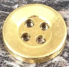 18 Ligne / 11 MM 4 Hole Gold Buttons Pack Of 10