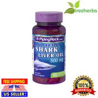 PURIFIED ECO SHARK LIVER OIL 500 MG 20% Alkoxyglycerols SUPPLEMENT 100 SOFTGELS