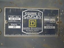 Square D SD-9351 Round Bar Fusible Busplug 30A 3PH 4W 230V Cover Operated