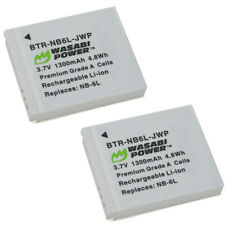 Wasabi Power Battery for Canon NB-6L, NB-6LH (2-Pack)