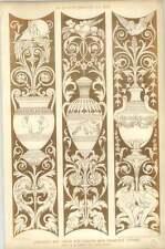 1879 Carvings, Art Union For London New Premises Strand En Barry