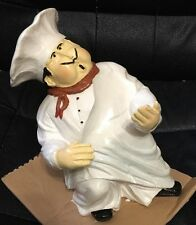 New Chef Wine Bottle Holder By Evergreen Hand Painted W/Box