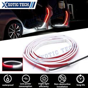 2pcs Red/White Door LED Warning Welcome Strip Light Signal Flashing Safety Lamp