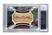 2009 Sweet Spot Classic Steve Carlton auto autograph bat card /75 BGS 8.5 HOF