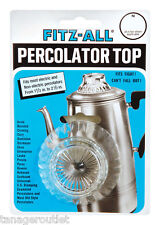 "TOPS Glass REPLACEMENT PERCOLATOR TOP Fits Opening From 1-1/2 "" - 2-1/2 """