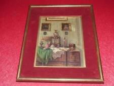 ERNST CZERNOTZKY (1869-1939) Superbe Nature morte Horloge Ca 1900 HS bois acajou
