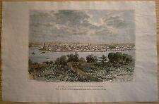 1881 Reclus print IRKUTSK BEFORE FIRE OF 1878, SIBERIA, RUSSIA (#76)