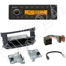 Continental TR7412UB-OR Radio + Smart ForTwo A451/C451 Blende black +ISO Adapter