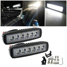 2x 6inch 18W LED SUV Work Light Bar Spot Fog Driving OFFROAD 4WD BOAT REVERSING