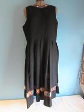German Drindl Dress Regina Grumme Fashions Ltd. Black W/ Floral Trim Size 14