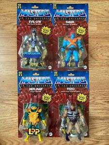 MASTERS OF THE UNIVERSE FAKER & FISTO & MER-MAN & EVIL-LYN RETRO PLAY NEW FOR 21
