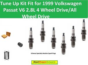 Spark Plugs Oil Air Fuel Filter Fit for 1999 Volkwagen Passat V6 4WD/AWD GLS GLX