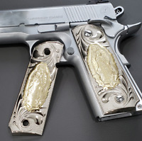 For Colt 1911 Grips Nickel Virgin Mary Full Size 1911 Government, Commander