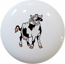 COW CABINET Dresser DRAWER Pull KNOB Ceramic