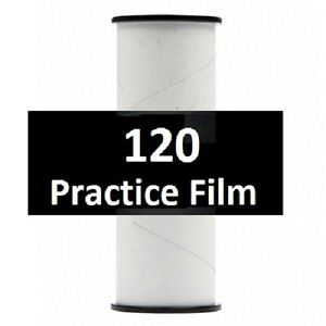 10 Rolls Practice 120 Film - Virgin Film Factory Wrapped on a 120 Spool