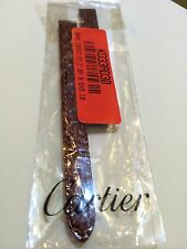 100% Authentic 10MM Cartier Brown Crocodile Watch Band NEW
