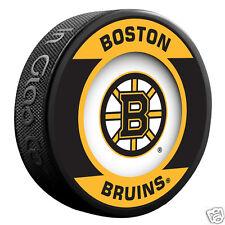 "BOSTON BRUINS ""Retro"" Series Team Logo Model SOUVENIR PUCK NEW In Glas Co."